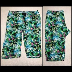 Cacique Cotton Drawstring Pajama Capri 26/28